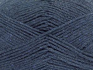 Fiber Content 88% Cotton, 12% Metallic Lurex, Brand Ice Yarns, Dark Grey, fnt2-68489