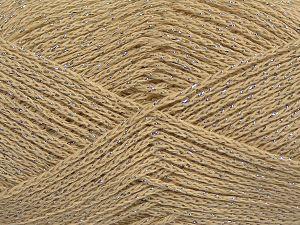 Fiber Content 88% Cotton, 12% Metallic Lurex, Brand Ice Yarns, Beige, fnt2-68491
