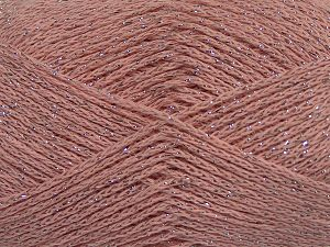 Fiber Content 88% Cotton, 12% Metallic Lurex, Powder Pink, Brand Ice Yarns, fnt2-68492