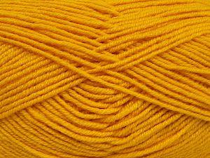 Contenido de fibra 60% Lana Merino, 40% Acrílico, Yellow, Brand Ice Yarns, fnt2-68572