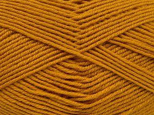 Contenido de fibra 60% Lana Merino, 40% Acrílico, Brand Ice Yarns, Gold, fnt2-68573