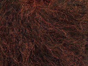 Fiber Content 60% Acrylic, 30% Nylon, 10% Polyester, Brand Ice Yarns, Dark Brown, Copper, fnt2-68579