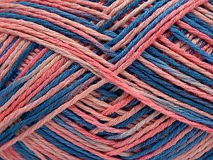Fiber Content 100% Acrylic, Salmon Shades, Brand Ice Yarns, Blue Shades, fnt2-68631