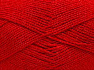 Fiber Content 60% Bamboo, 40% Polyamide, Red, Brand Ice Yarns, fnt2-68644