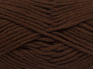 Fiber Content 50% Acrylic, 25% Alpaca Superfine, 25% OrganicMerino Wool, Brand Ice Yarns, Dark Brown, fnt2-68694