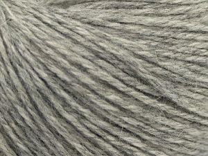 Fiber Content 45% Polyamide, 30% Viscose, 15% Kid Mohair, 10% Baby Alpaca, Light Grey, Brand Ice Yarns, fnt2-68704