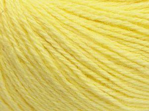 Fiber Content 45% Polyamide, 30% Viscose, 15% Kid Mohair, 10% Baby Alpaca, Light Yellow, Brand Ice Yarns, fnt2-68714