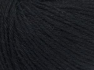 Fiber Content 45% Polyamide, 30% Viscose, 15% Kid Mohair, 10% Baby Alpaca, Brand Ice Yarns, Black, fnt2-68731