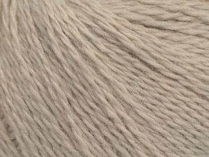 Fiber Content 40% Polyamide, 40% Angora, 20% Cashmere, Light Beige, Brand Ice Yarns, fnt2-68756