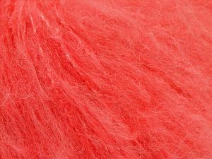 Fiber Content 45% Acrylic, 25% Wool, 20% Mohair, 10% Polyamide, Neon Orange, Brand Ice Yarns, fnt2-68775