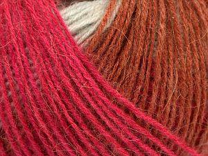 Fiber Content 50% Acrylic, 32% Wool, 18% Angora, Pink, Orange, Light Grey, Brand Ice Yarns, Copper, Beige, fnt2-68779