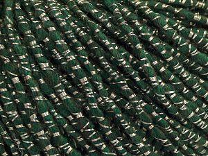 Fiber Content 50% Acrylic, 20% Wool, 15% Viscose, 15% Alpaca, Brand Ice Yarns, Dark Green, fnt2-68808