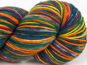 Please note that this is a hand-dyed yarn. Colors in different lots may vary because of the charateristics of the yarn. Also see the package photos for the colorway in full; as skein photos may not show all colors. İçerik 75% Superwash Merino Wool, 25% Polyamid, Yellow, Purple, Orange, Brand Ice Yarns, Green, Gold, Fuchsia, fnt2-68871