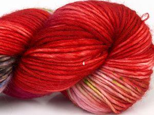 Fiber Content 100% Superwash Merino Wool, Red Shades, Pink, Maroon, Brand Ice Yarns, Green, Blue, fnt2-68873
