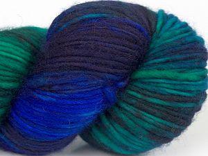 Fiber Content 100% Superwash Merino Wool, Brand Ice Yarns, Green Shades, Dark Maroon, Blue Shades, fnt2-68875