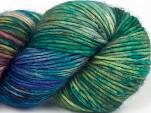 Fiber Content 100% Superwash Merino Wool, Turquoise, Purple Shades, Brand Ice Yarns, Green Shades, fnt2-68877