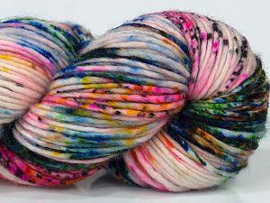 Fiber Content 100% Superwash Merino Wool, Pink, Orange, Brand Ice Yarns, Green Shades, Gold, Cream, Blue, fnt2-68878