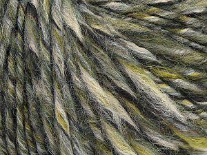 Fiber Content 50% Wool, 30% Acrylic, 20% Alpaca, Khaki Shades, Brand Ice Yarns, Grey, Cream, fnt2-68943