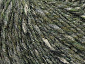 Fiber Content 50% Wool, 30% Acrylic, 20% Alpaca, Brand Ice Yarns, Grey, Green Shades, Cream, fnt2-68944