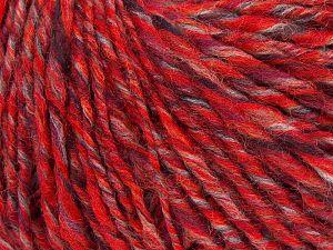 Fiber Content 50% Wool, 30% Acrylic, 20% Alpaca, Red, Light Orange, Brand Ice Yarns, Black, fnt2-68946
