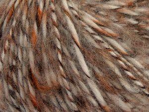 Fiber Content 50% Wool, 30% Acrylic, 20% Alpaca, Orange, Brand Ice Yarns, Ecru, Camel, Brown, Beige, fnt2-68948