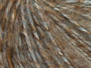 Fiber Content 50% Wool, 30% Acrylic, 20% Alpaca, Light Grey, Brand Ice Yarns, Camel Shades, fnt2-68949