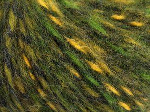 Fiber Content 50% Wool, 30% Acrylic, 20% Alpaca, Yellow, Brand Ice Yarns, Green Shades, fnt2-68952