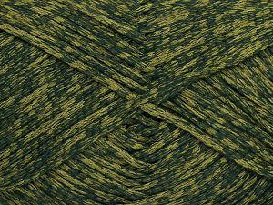 Fiber Content 72% Cotton, 28% Polyamide, Brand Ice Yarns, Green Shades, fnt2-68965