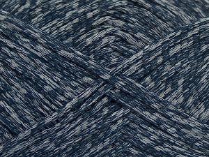 Fiber Content 72% Cotton, 28% Polyamide, Navy, Light Grey, Brand Ice Yarns, fnt2-68969