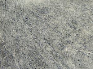 Fiber Content 41% Kid Mohair, 41% Alpaca Superfine, 2% Elastan, 16% Nylon, Light Grey, Brand Ice Yarns, fnt2-68983