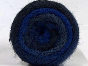 Fiber Content 55% Acrylic, 25% Wool, 20% Alpaca, Navy, Brand Ice Yarns, Grey, Blue Shades, fnt2-69053