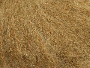 Fiber Content 47% SuperKid Mohair, 31% Superwash Extrafine Merino Wool, 22% Polyamide, Brand Ice Yarns, Camel, fnt2-69138