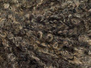 Fiber Content 25% Polyamide, 25% Alpaca, 25% Acrylic, 25% Wool, Brand Ice Yarns, Brown Shades, fnt2-69149