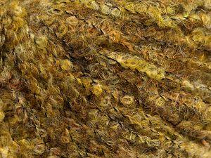 Fiber Content 25% Polyamide, 25% Alpaca, 25% Acrylic, 25% Wool, Brand Ice Yarns, Green Shades, fnt2-69151