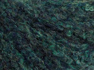 Fiber Content 25% Acrylic, 25% Wool, 25% Polyamide, 25% Alpaca, Brand Ice Yarns, Dark Green Shades, fnt2-69158