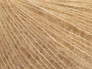 Fiber Content 29% Polyamide, 28% Acrylic, 2% Elastan, 15% Wool, 14% Merino Wool, 12% Alpaca, Brand Ice Yarns, Dark Cream, fnt2-69173