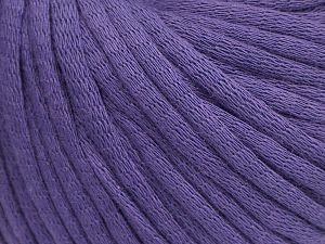 This is a tube-like yarn with soft cotton fleece filled inside. Fiber Content 70% Cotton, 30% Polyester, Purple, Brand Ice Yarns, fnt2-69177