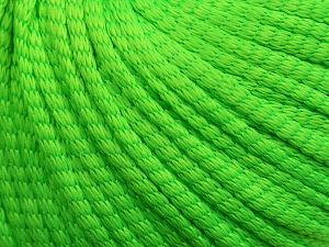 Fiber Content 75% Polyester, 25% Polyamide, Neon Green, Brand Ice Yarns, fnt2-69212