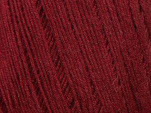 Fiber Content 50% Linen, 50% Viscose, Brand Ice Yarns, Burgundy, fnt2-69219