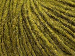Fiber Content 50% Merino Wool, 25% Alpaca, 25% Acrylic, Olive Green, Brand Ice Yarns, fnt2-69298