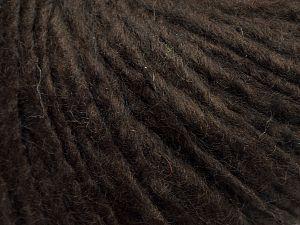 Fiber Content 50% Merino Wool, 25% Alpaca, 25% Acrylic, Brand Ice Yarns, Dark Brown, fnt2-69354