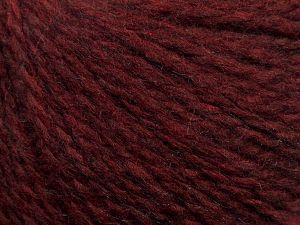 Fiber Content 50% Acrylic, 37% Nylon, 3% Elastan, 10% Angora, Brand Ice Yarns, Burgundy, fnt2-69366