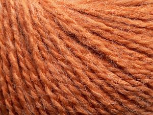 Fiber Content 50% Acrylic, 37% Nylon, 3% Elastan, 10% Angora, Light Salmon, Brand Ice Yarns, fnt2-69368