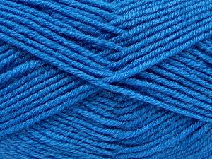 Fiber Content 60% Merino Wool, 40% Acrylic, Brand Ice Yarns, Blue, fnt2-69373