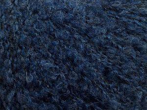 Fiber Content 45% Acrylic, 26% Polyamide, 2% Elastan, 15% Alpaca, 12% Wool, Navy, Brand Ice Yarns, fnt2-69394