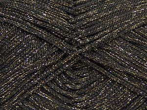 Width is 2-3 mm Fiber Content 100% Polyester, Brand Ice Yarns, Gold, Dark Brown, fnt2-69407