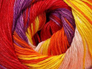Fiber Content 100% Mercerised Cotton, Yellow, Red, Purple, Orange, Light Pink, Brand Ice Yarns, fnt2-69531