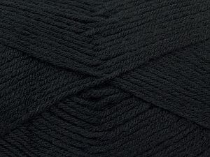 Cold Rinse. Short spin. Do not wring. Do not iron. Dry cleanable. Do not bleach. Fiber Content 50% Acrylic, 50% Polyamide, Brand Ice Yarns, Black, fnt2-69543