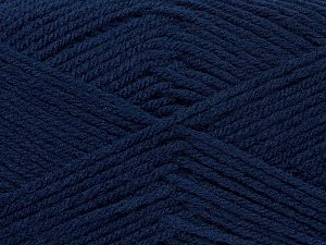 Cold Rinse. Short spin. Do not wring. Do not iron. Dry cleanable. Do not bleach. Fiber Content 50% Acrylic, 50% Polyamide, Brand Ice Yarns, Dark Navy, fnt2-69544