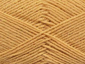 Cold Rinse. Short spin. Do not wring. Do not iron. Dry cleanable. Do not bleach. Fiber Content 50% Acrylic, 50% Polyamide, Milky Brown, Brand Ice Yarns, fnt2-69546